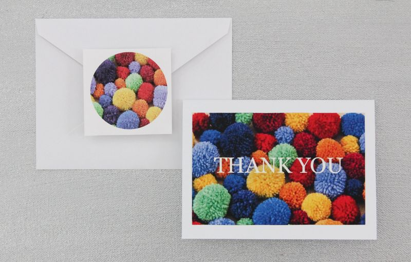 Pom-pom Thank You Note by Ms.Ellaneous