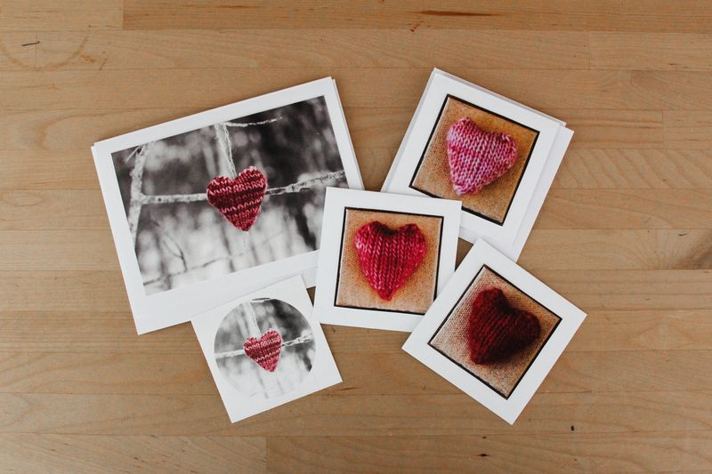 Knit heart notecards by Ms. Ellaneous